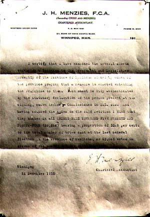 Émancipation de la femme, certification des signatures, 1915