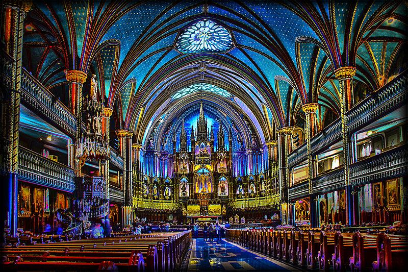 Basilique Notre-Dame de Montréal (vue intérieure)