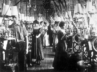 Workers in a Textile Plant, 1908