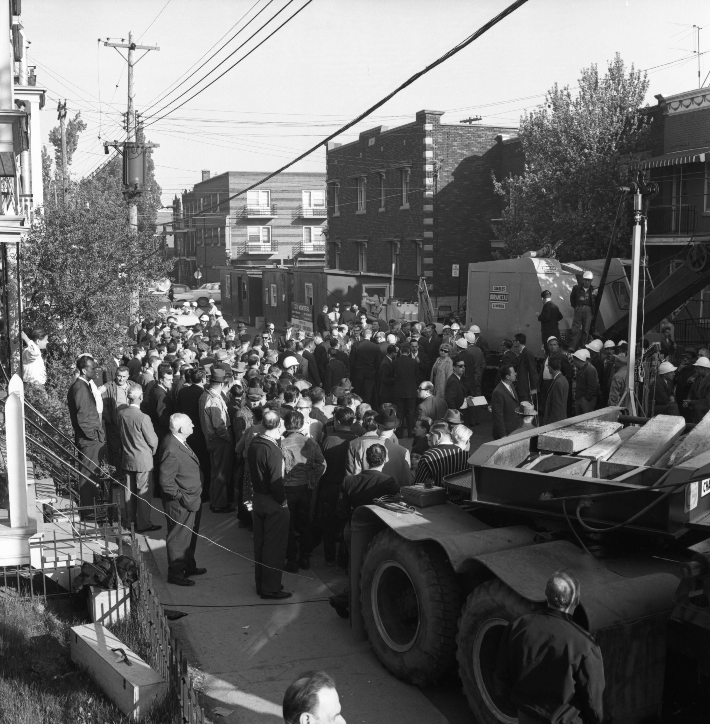 Métro de Montréal, début des travaux, 1962