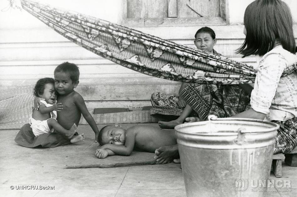 Laotian Children at Nong Khai camp, Thailand