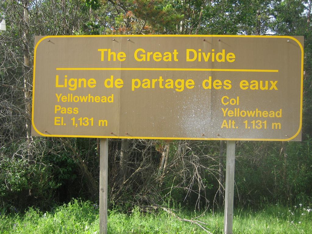 Continental Divide, Yellowhead Pass