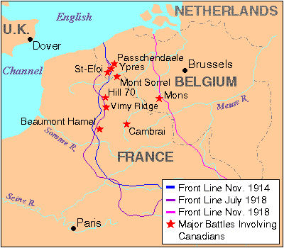Première Guerre mondiale (carte)