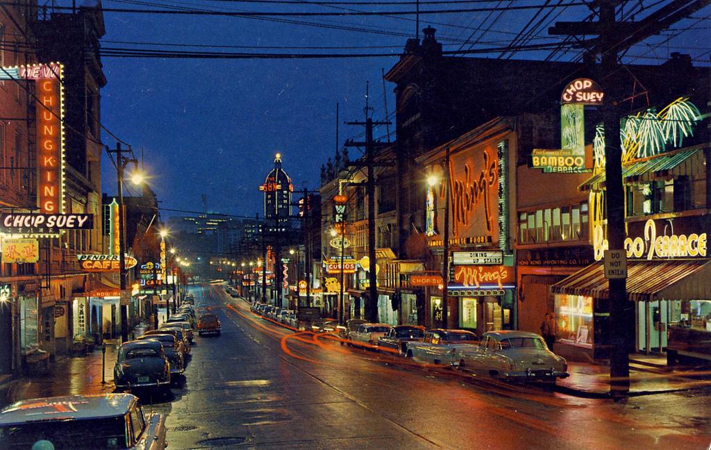 Quartier chinois de Vancouver, vers 1955.