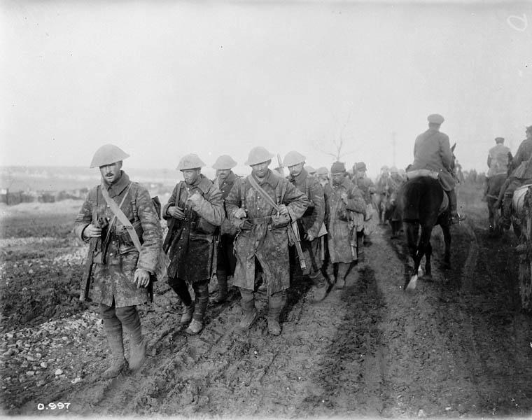 Soldats canadiens, bataille de la Somme