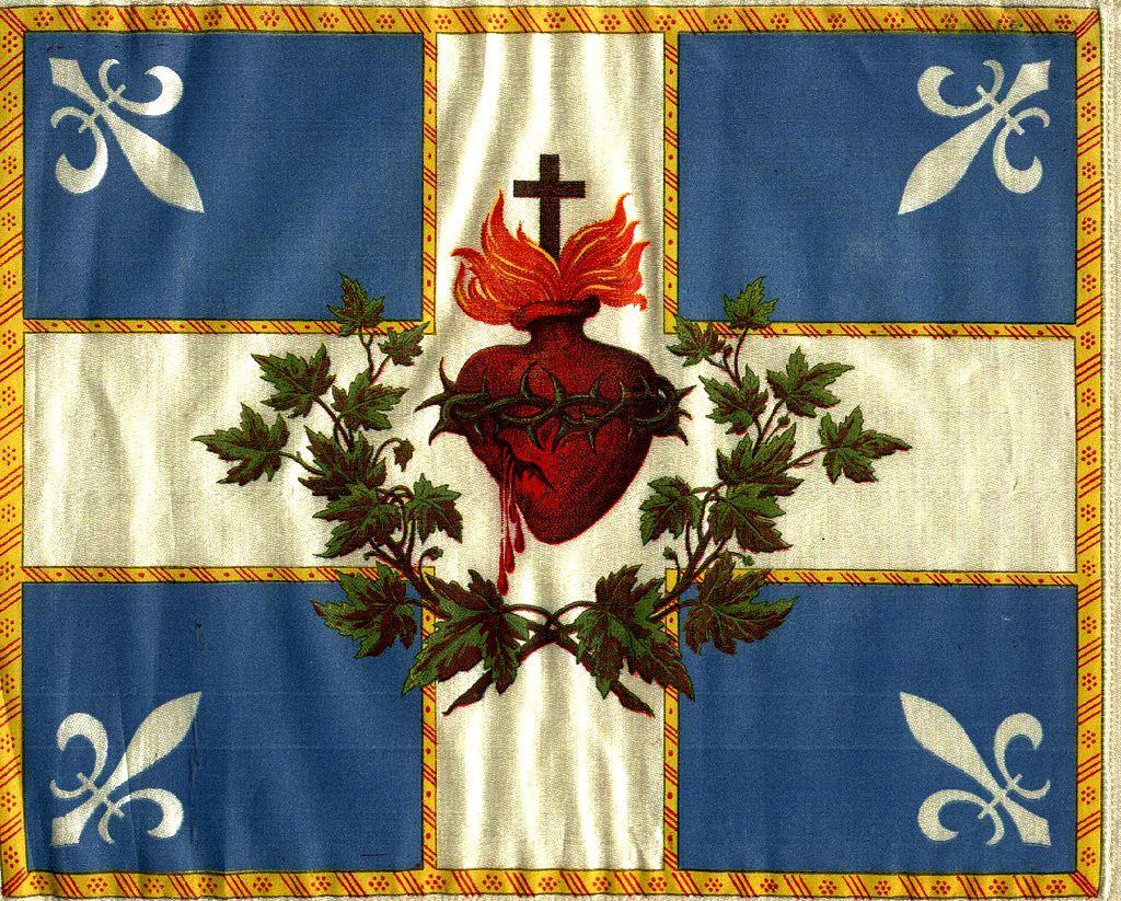 Carillon-Sacré-Coeur Flag