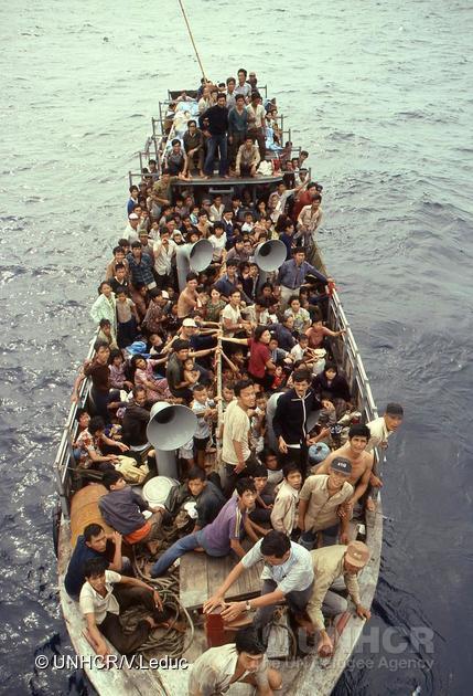 Réfugiés de la mer du Viêt-Nam, 1979.