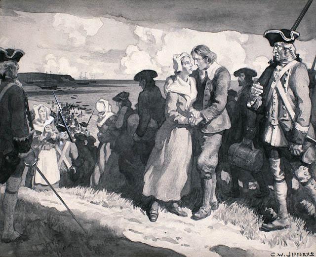 Embarquement des Acadiens, 1755
