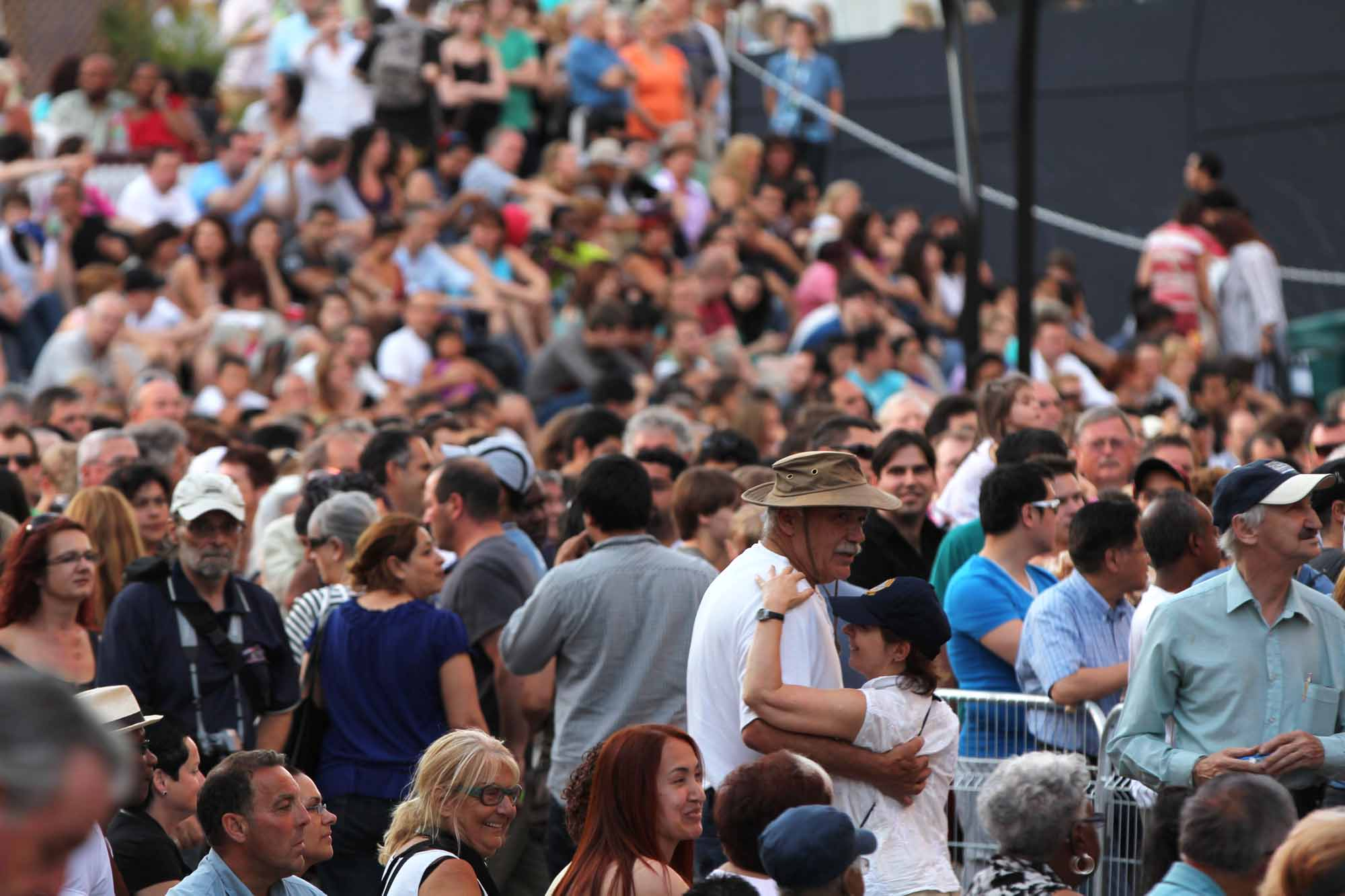 Jazz festival Crowd in Montreal