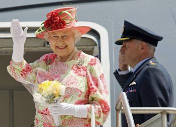 La reine Elizabeth II en visite au Canada