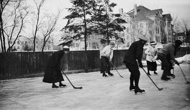 Hockey in Winnipeg, Manitoba, 1919.