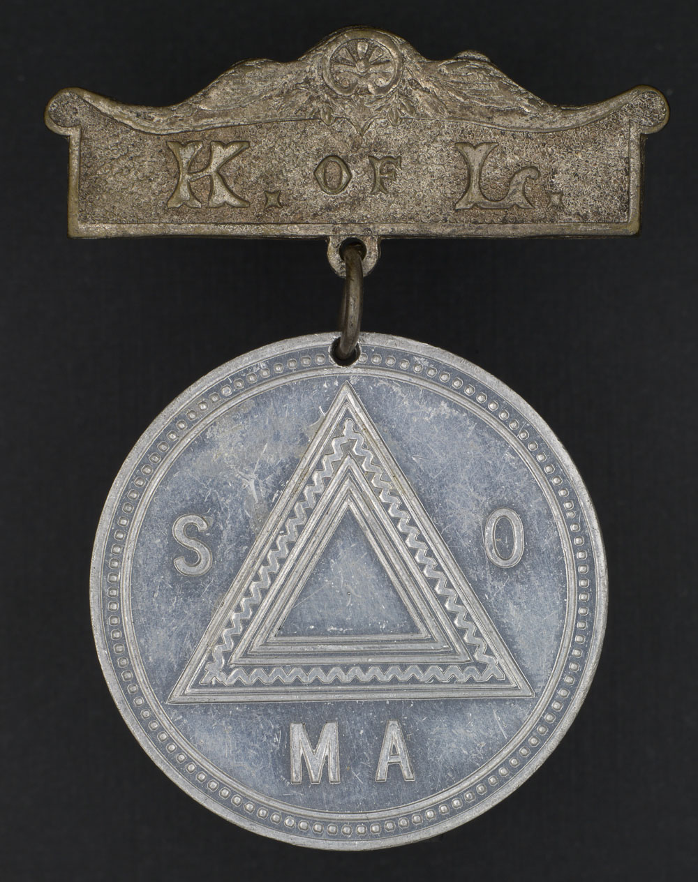 Medal with a Knight of Labor brooch