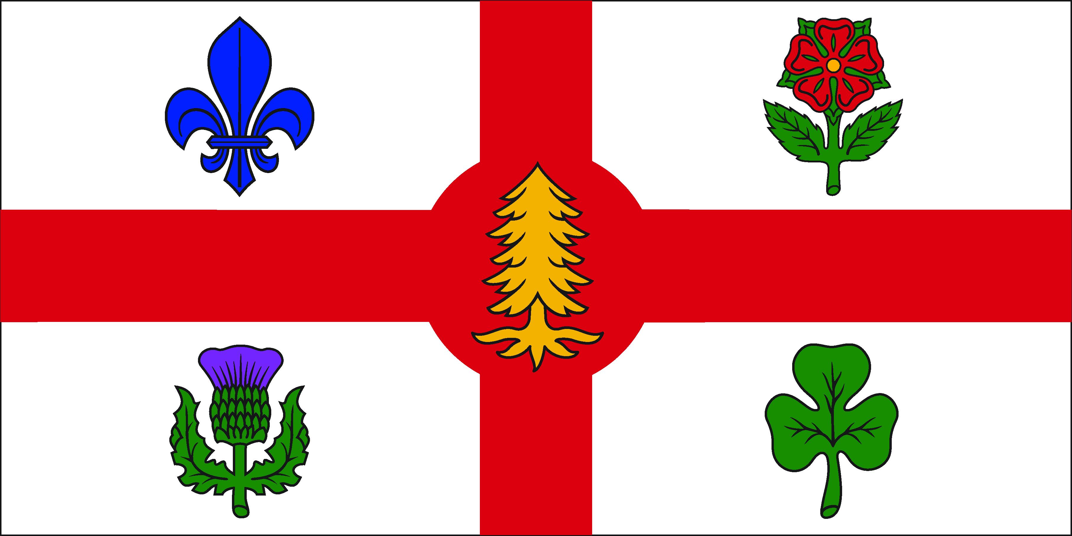 Le drapeau de la Ville de Montréal