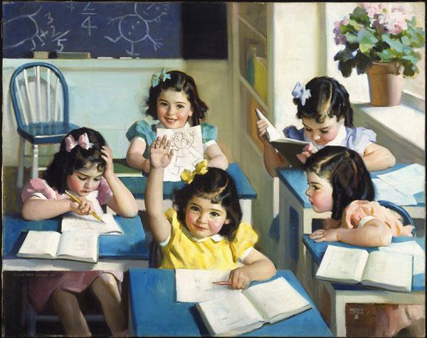 Dionne Quintuplets - School Days, 1938