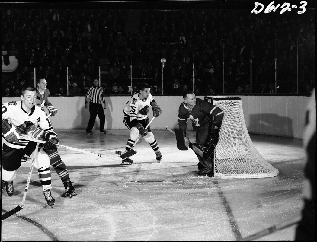 Hockey Game at Maple Leaf Gardens, c. 1961