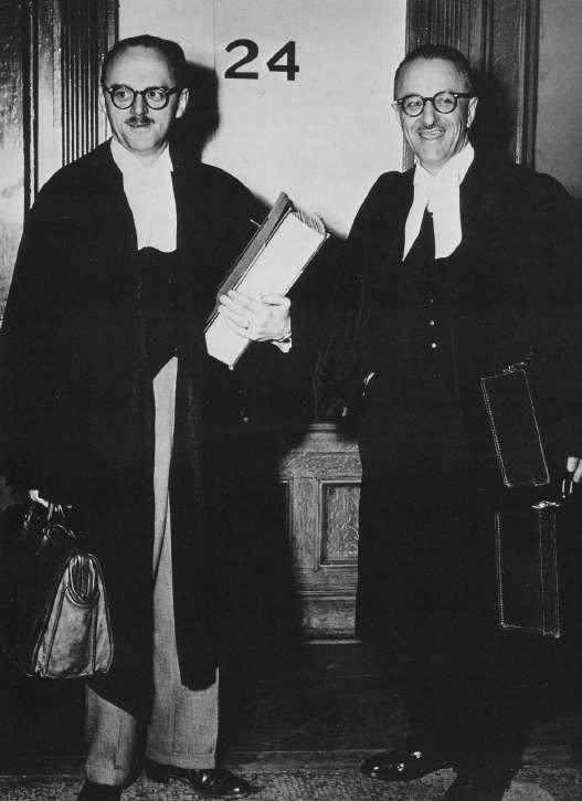 Jean Drapeau and Pacifique Plante in 1954