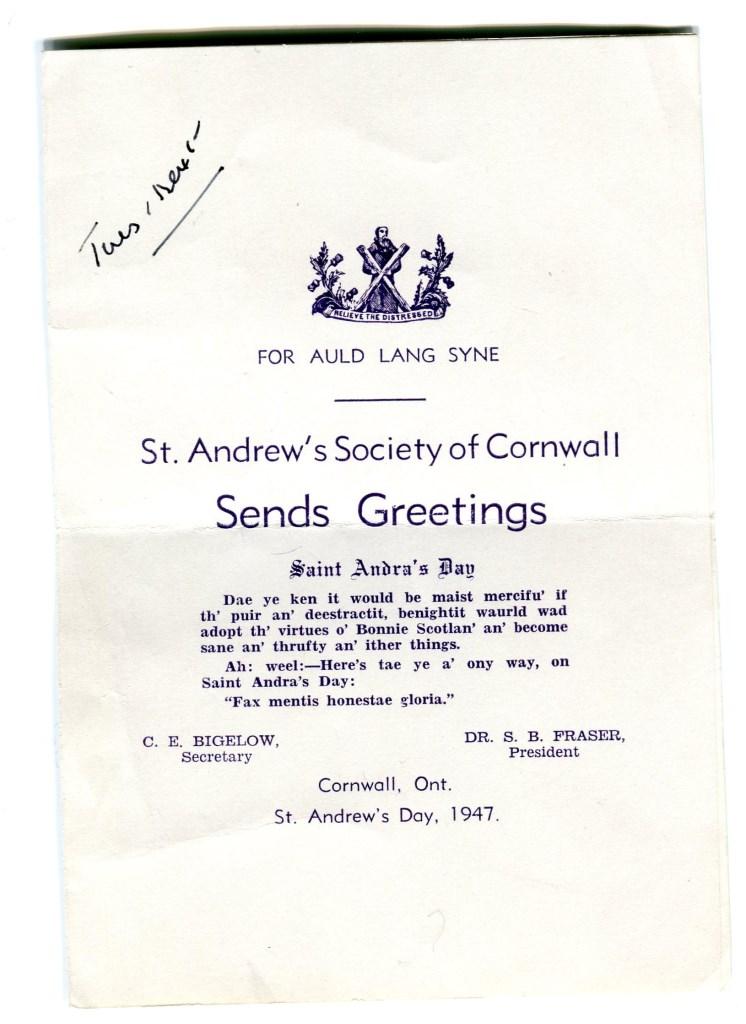 Jour de la Saint André (St. Andrew