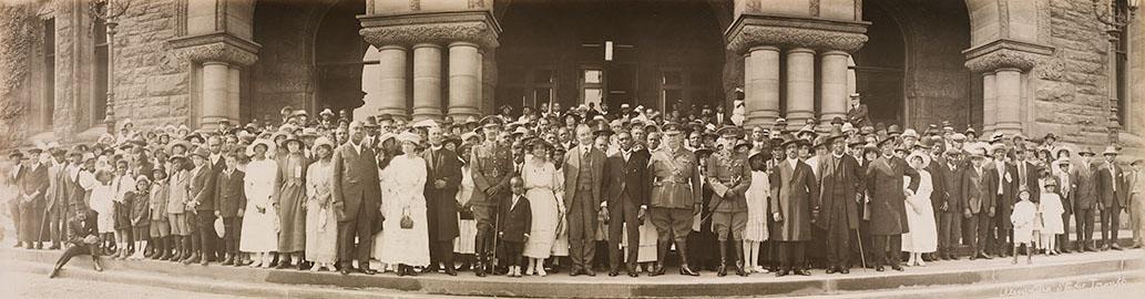 Membres du 2e Bataillon de construction, 5 juillet 1920