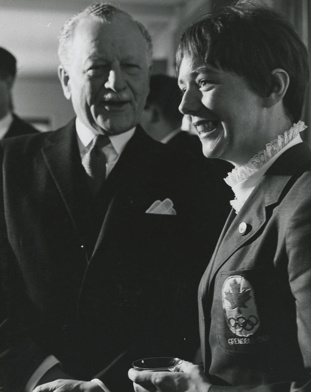 Roland Michener and Nancy Greene