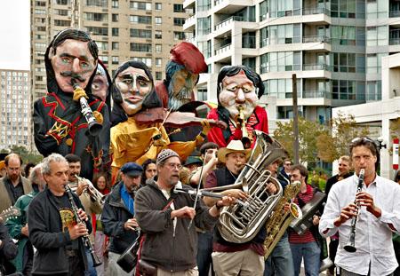 Ashkenaz Festival Parade Puppets