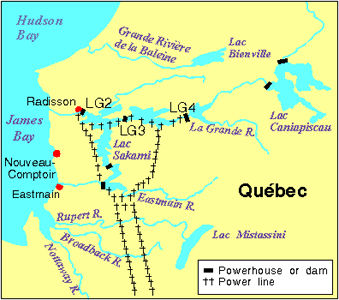 James Bay Project, Map