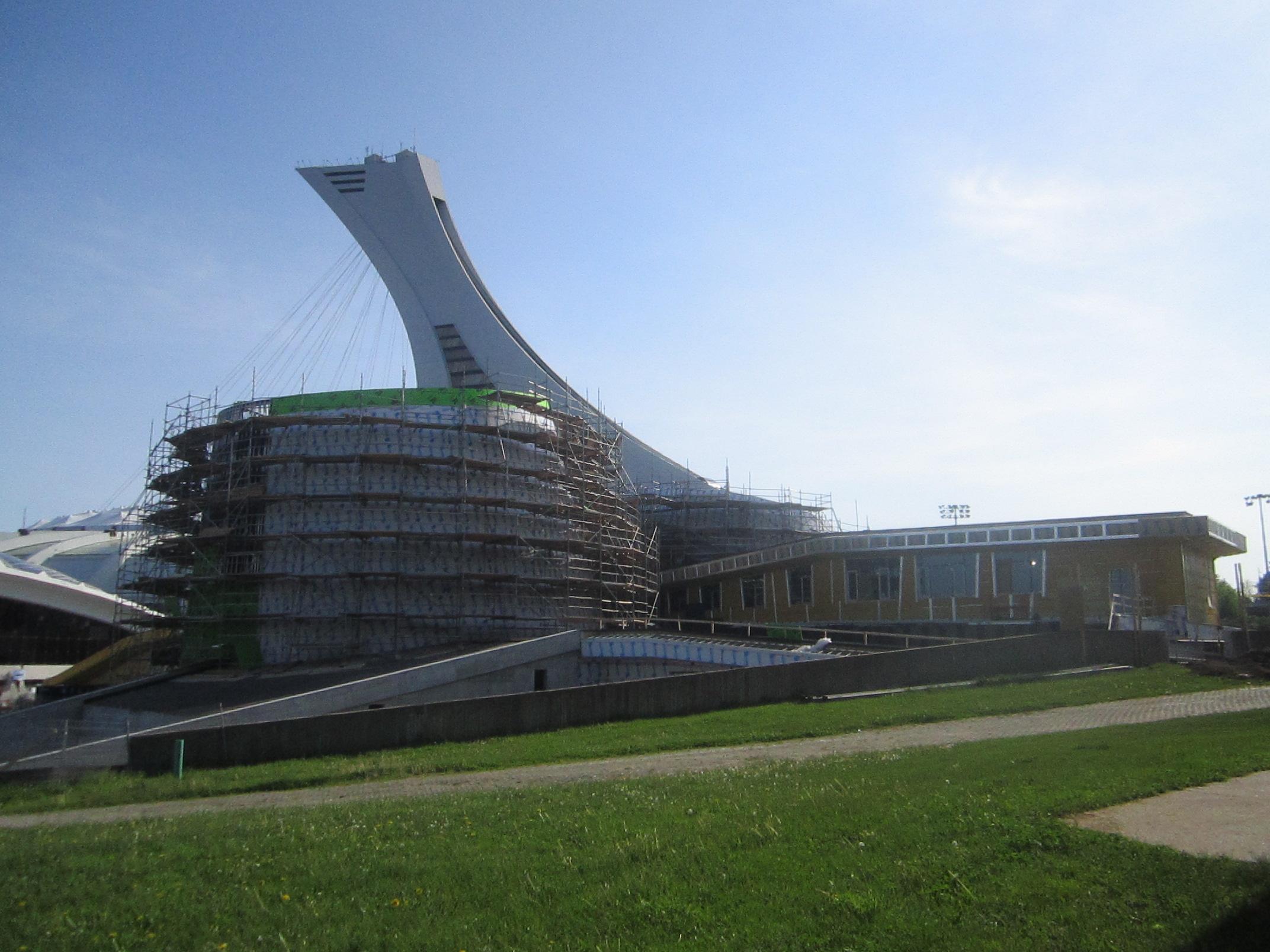The Montréal Planetarium under construction in 2012.