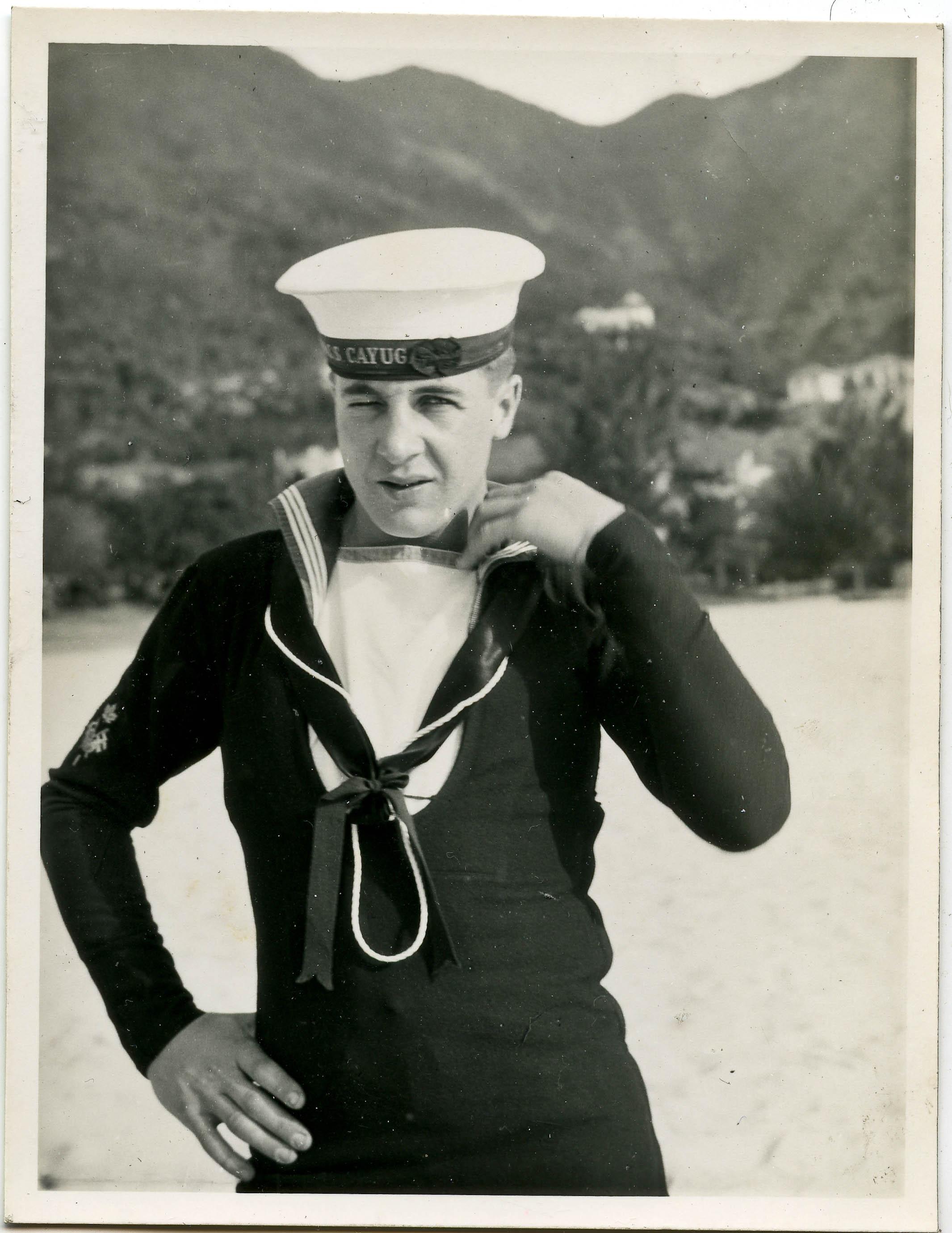 Sailor Leonard Wells of HMCS Cayuga in Korea, 1950-1952.
