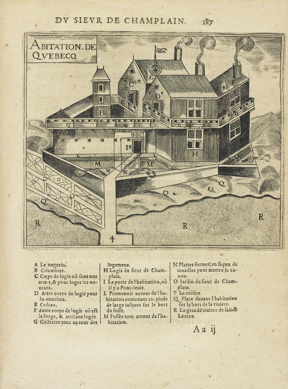 L'habitation de Québec, 1613