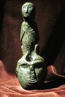 Seated Human Figure Bowl