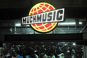 MuchMusic Logo at Night
