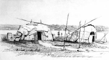Ojibwée, hutte