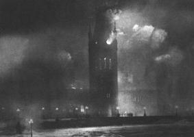 Le feu au Parlement