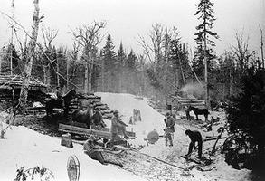 Lumber Camp, 19th Century