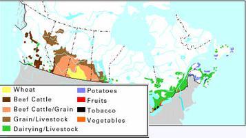 Farming Types, Map