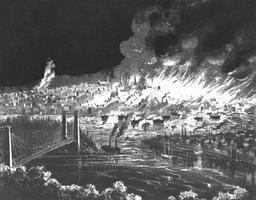 Un incendie détruit Saint-Jean