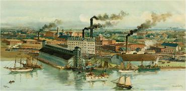 La distillery Gooderham & Worts