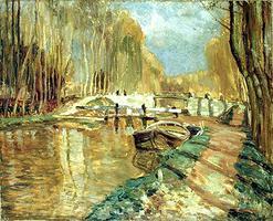\u00ab Canal du Loing near Episy \u00bb