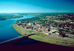 Fredericton, vue aérienne de