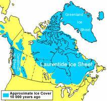 Glaciation, il y a 10 000 ans