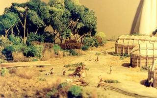 Maquette historique du village iroquoien Mandeville