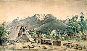 Boat Encampment, Sketch