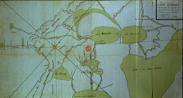 Carte des découvertes de La Vérendrye