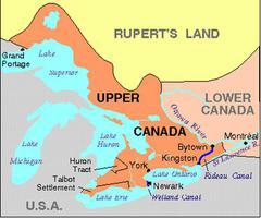 Haut-Canada, carte du