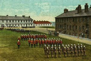 Parade at Stanley Barracks