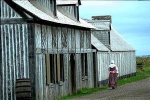 Louisbourg, bâtiments en bois