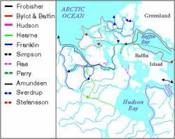 Arctique, carte de l