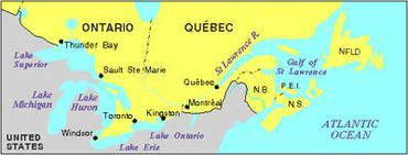St Lawrence Seaway, Map