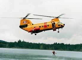 Hélicoptère, exercice de sauvetage