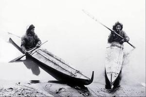 Inuit in their Kayaks