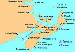 Acadie, villes de l